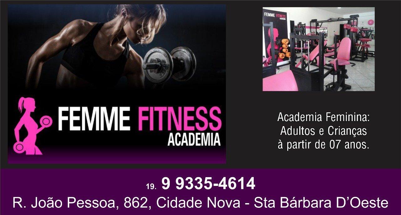 58e0d7a9e Academia Feminina Femme Fitness Sta Bárbara Oeste   Fatos e Eventos